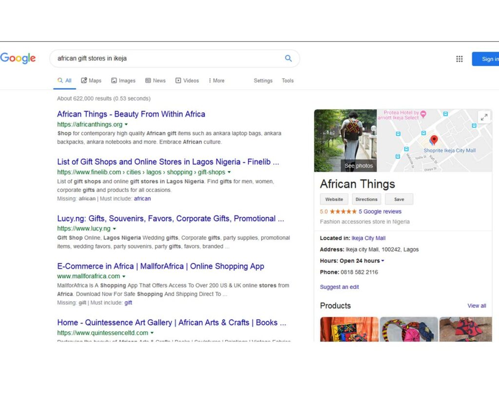 african things after seo
