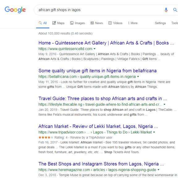 african things before seo